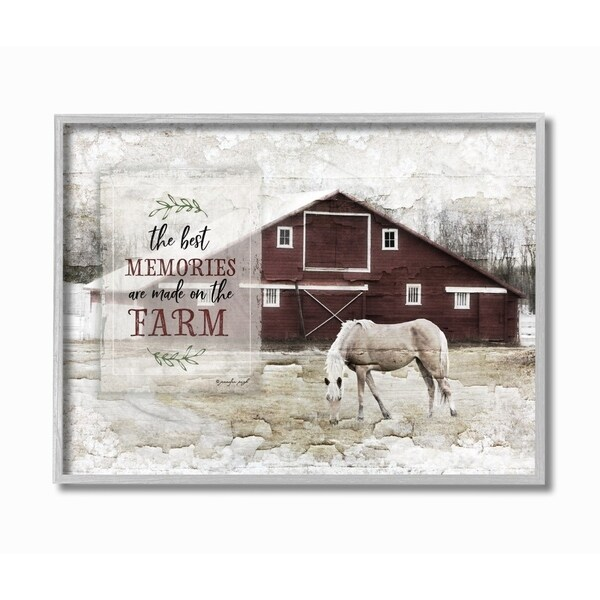 Distressed Home Decor: Shop The Stupell Home Decor Farm Memories Distressed Barn