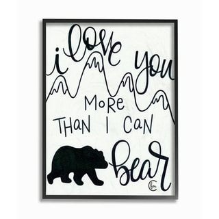 The Kids Room By Stupell I Love You More Than I Can Bear Mountain Typography, 11 x 14, Proudly Made in USA - Multi-Color