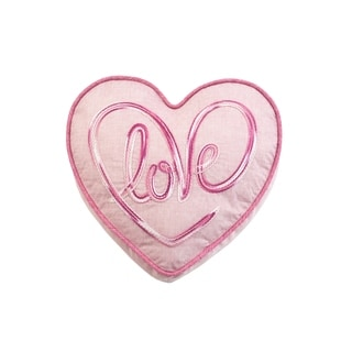 Love Heart Accent Pillow in Pink