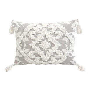 Morocco Grey Rectangle Accent Pillow