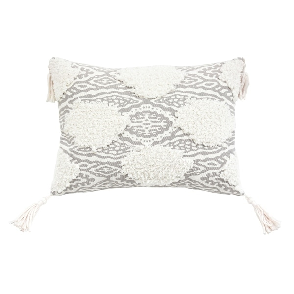 Maya Medallion Corded Embroidered Decorative Pillow