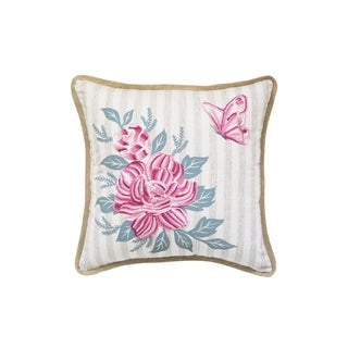 Square Flower Throw Pillow