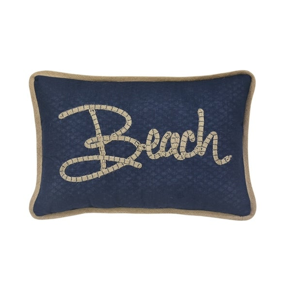 """""""Beach"""" Themed Rectangular Throw Pillow"""