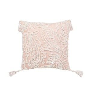 Chenille Paisley Tassel Decorative Pillow