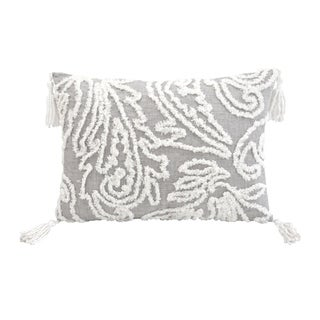 Chenille Paisley Decorative Pillow