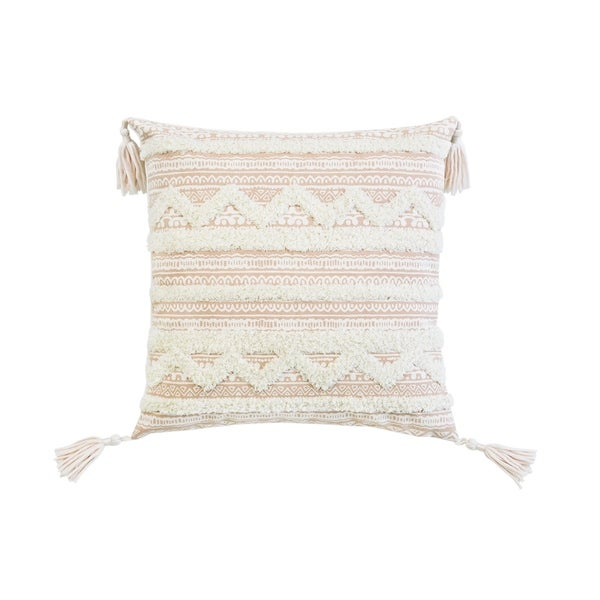 Corded Apache Embroidered Decorative Throw Pillow