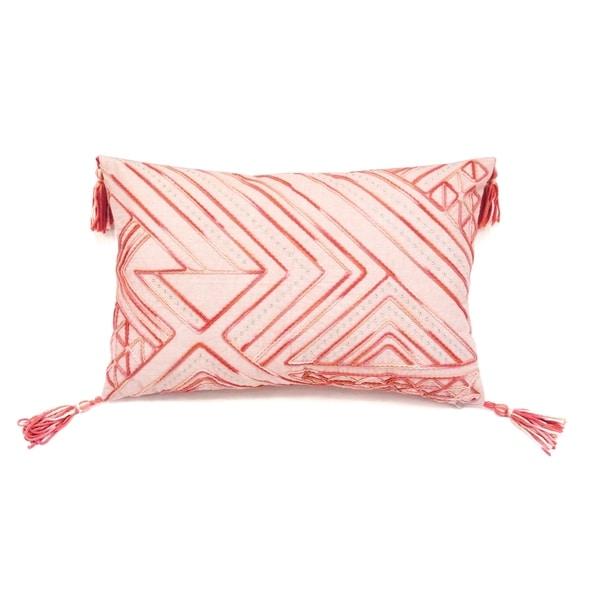 Chenille Tribal Decorative Throw Pillow
