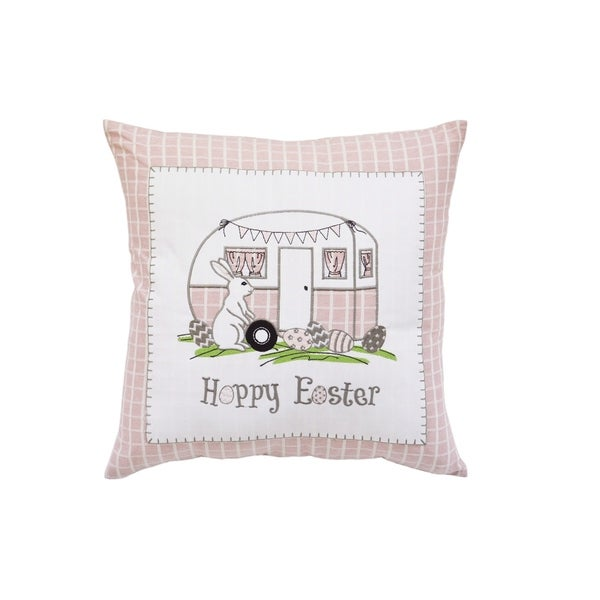 Happy Easter Camper Accent Pillow