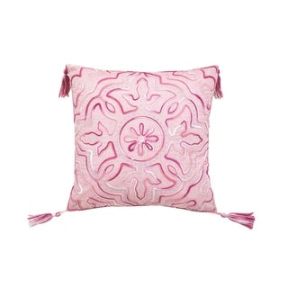 Chenille Pink Tile Decorative Pillow