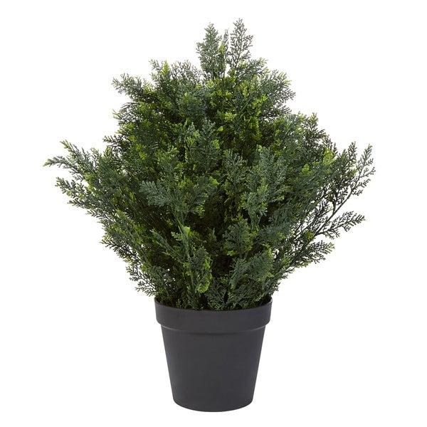 Pure Garden Artificial Cedar Topiary Indoor or Outdoor Potted Tree