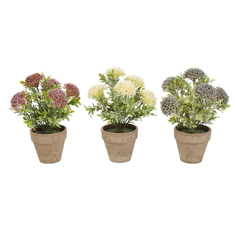 Pure Garden 10-inch Artifical Floral Plant (Set of 3)