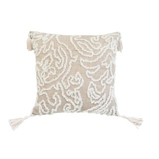 Chenille Damask Beighe Rectangle Accent Pillow