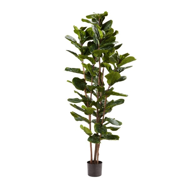 ARTIFICIAL SILK SILVER QUEEN FLOOR PLANT ARRANGEMENT w// BAMBOO POT SET of 2