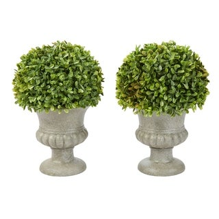 Link to Pure Garden 9.5-Inch Faux Foliage with Decorative Urns (Set of 2) Similar Items in Decorative Accessories