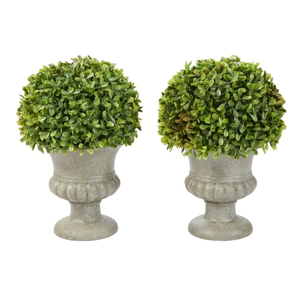 Pure Garden 9.5-Inch Faux Foliage with Decorative Urns (Set of 2). Opens flyout.