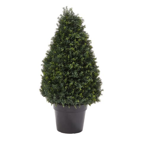 Pure Garden 37-inch Artificial Cypress Topiary