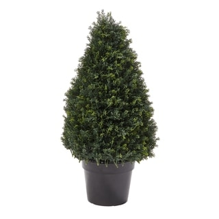 Link to Pure Garden 37-inch Artificial Cypress Topiary Similar Items in Decorative Accessories
