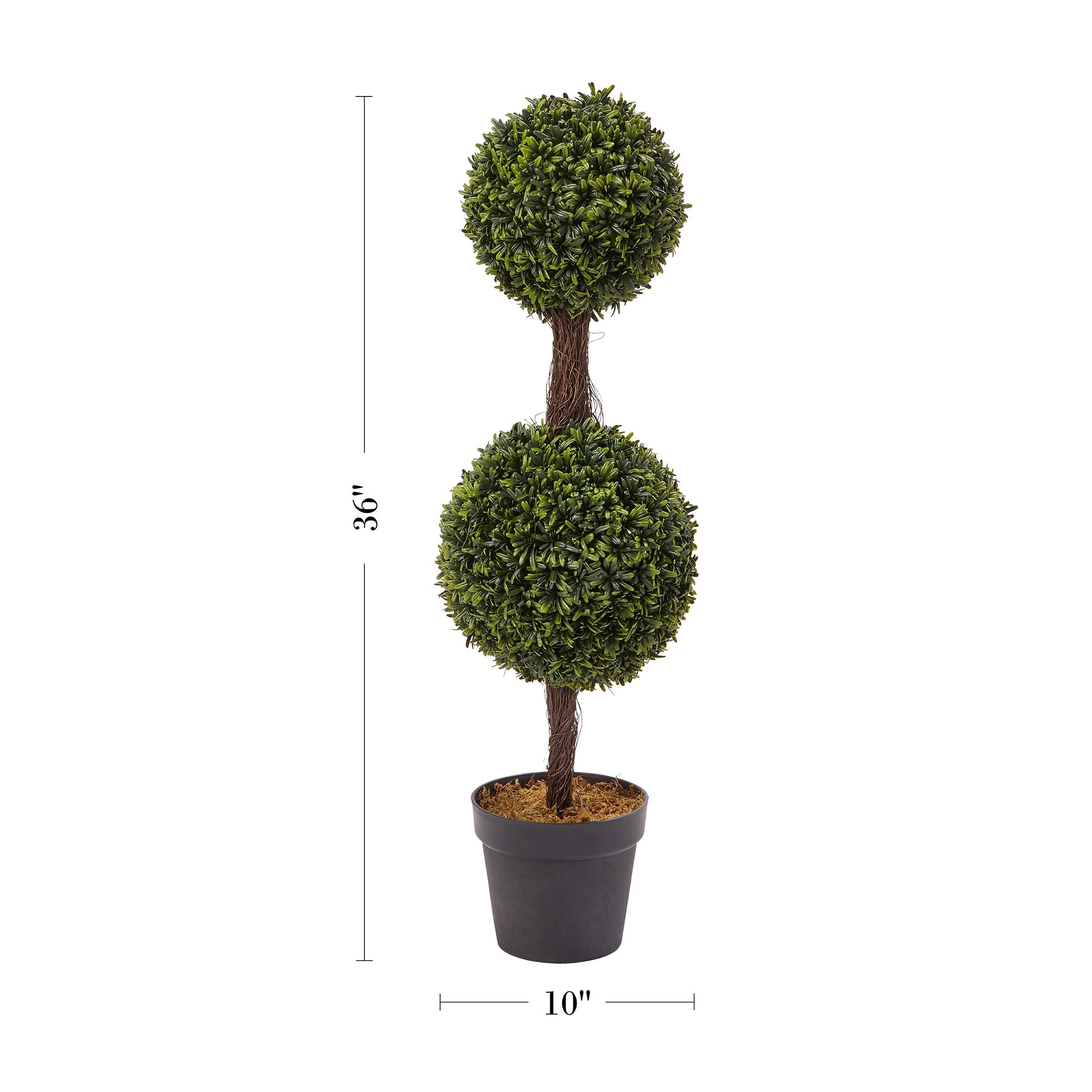 Artificial Boxwood 3 Ball Topiary Artificial Tree W Pot In Outdoor Plants Patio Dried Artificial Flowers Home Decor Dried Artificial Flowers