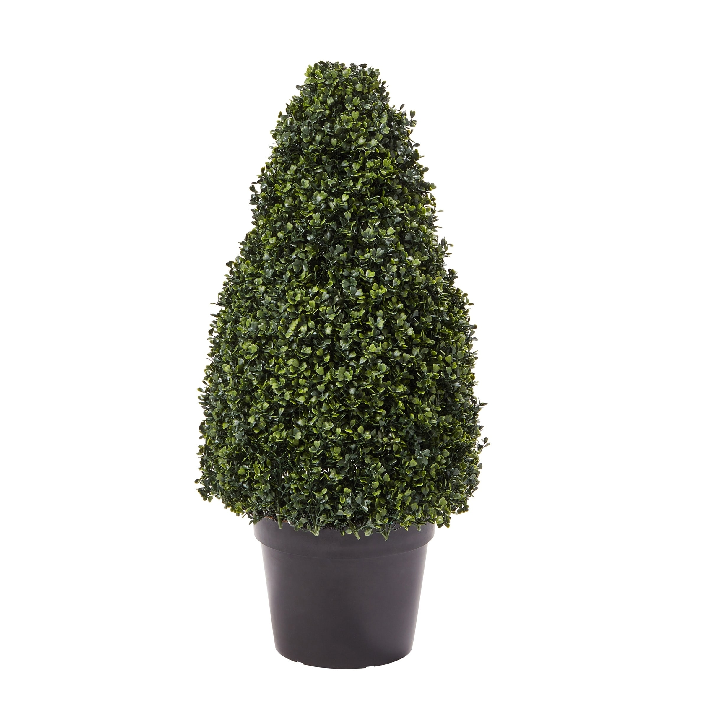 Pure Garden 36 Inch Artificial Boxwood Topiary Tower Style Faux Plant In Sturdy Pot Realistic Indoor Or Outdoor Potted Shrub Overstock 27741508