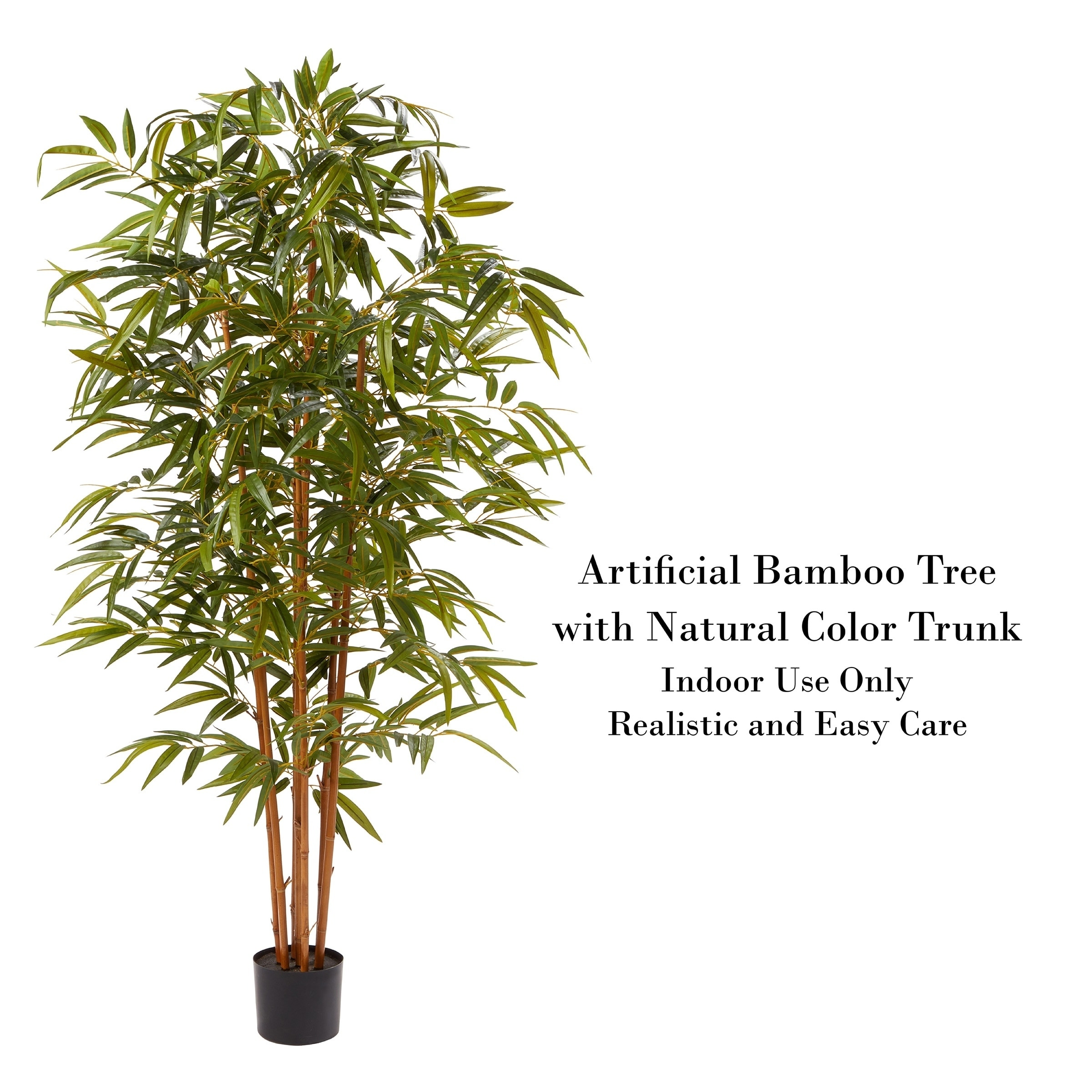 Shop Pure Garden Faux Bamboo 6 Foot Tall Potted Indoor Floor Plant