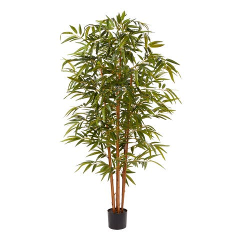 Pure Garden Faux Bamboo 6-foot Tall Potted Indoor Floor Plant