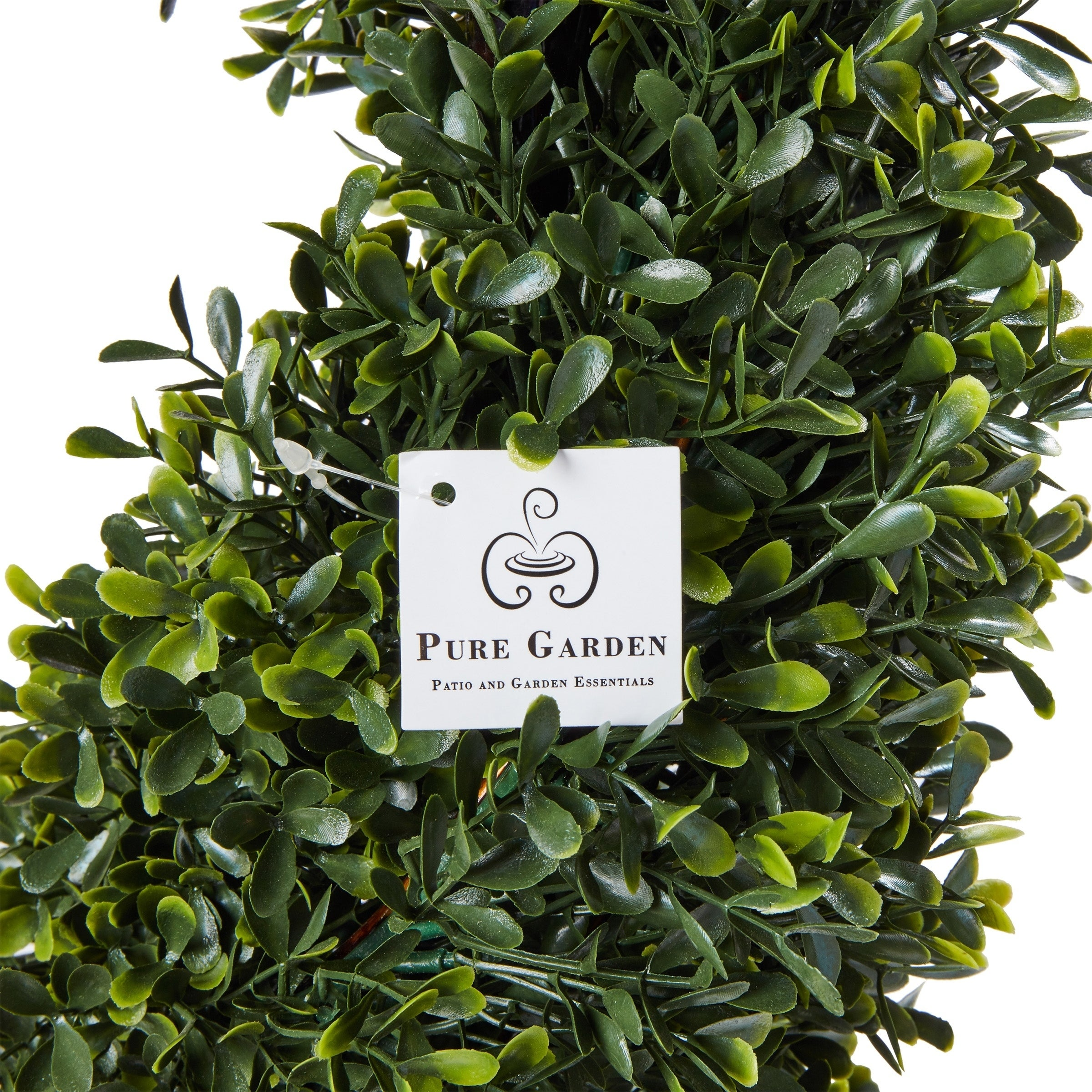 Pure Graden 5 Foot Faux Boxwood Spiral Topiary Arrangement In Weighted Pot Overstock 27741531