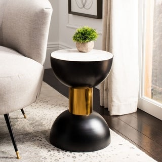"Safavieh Zephyr Round Accent Table - 12"" x 12"" x 17"""
