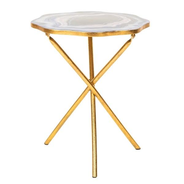 Shop Safavieh Celeste Faux Agate Side Table 15 5 Quot X 15 5