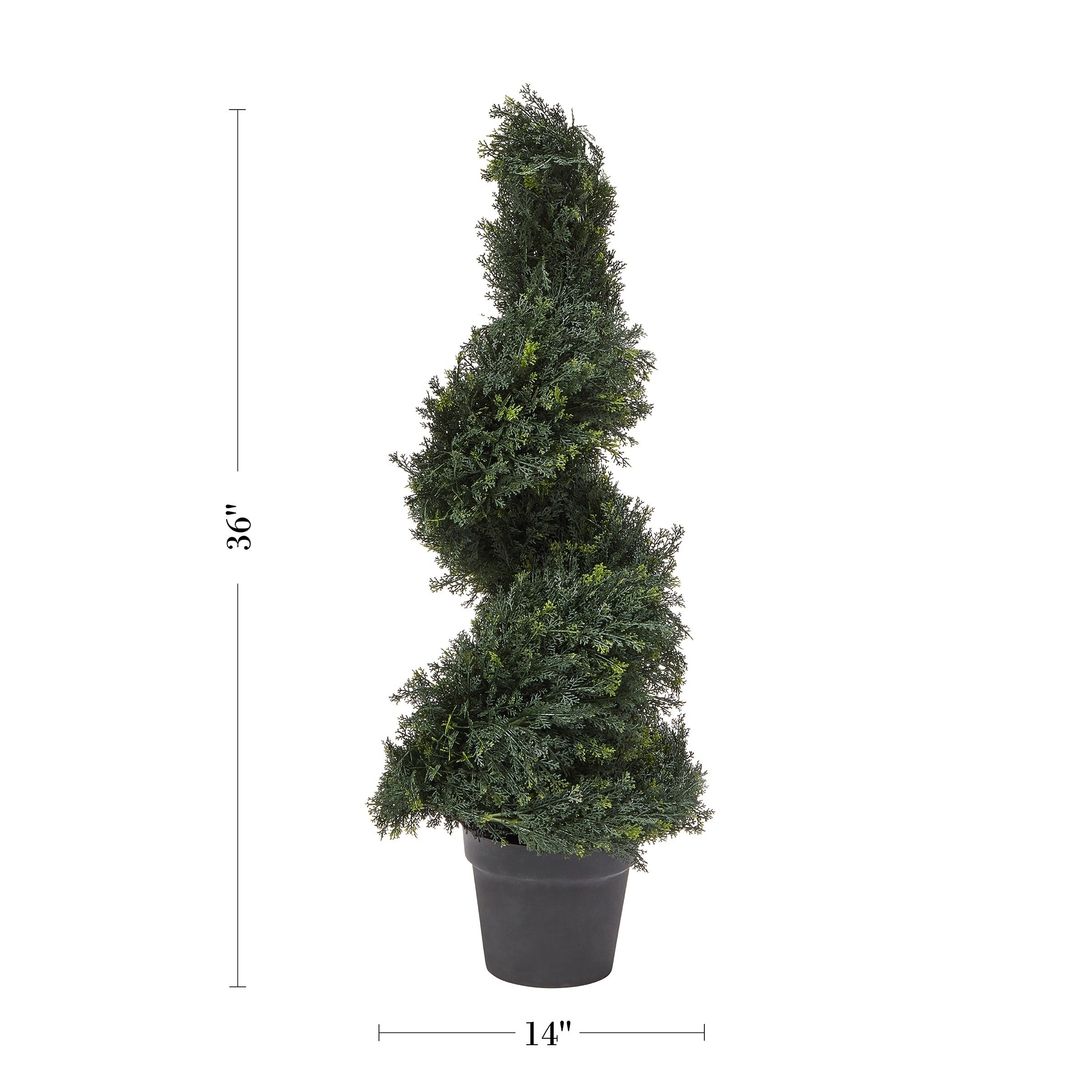 Pure Garden 3 Foot Tall Indoor Outdoor Potted Artificial Cypress Spiral Topiary Tree Overstock 27742911