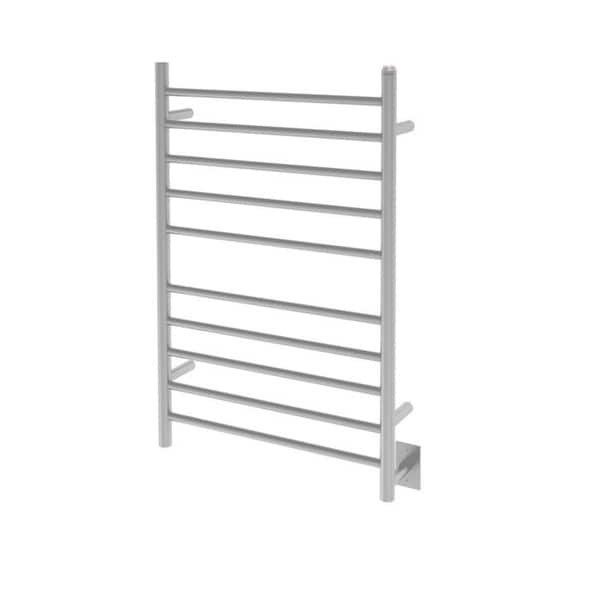 Ancona Comfort Dual 10-Bar Hardwired and Plug-in Towel Warmer in Brushed Stainless Steel