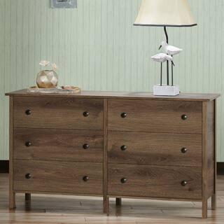 Shane Rustic Distressed Walnut Horizontal Dresser by FOA