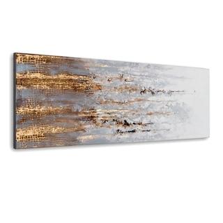 Gild Design House 'Golden Rise' Hand Painted Canvas Art