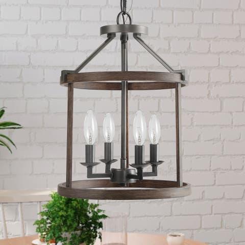 "Farmhouse 4-Light Foyer Hanging Lantern Pendant Lighting - W13""x H17.1"""