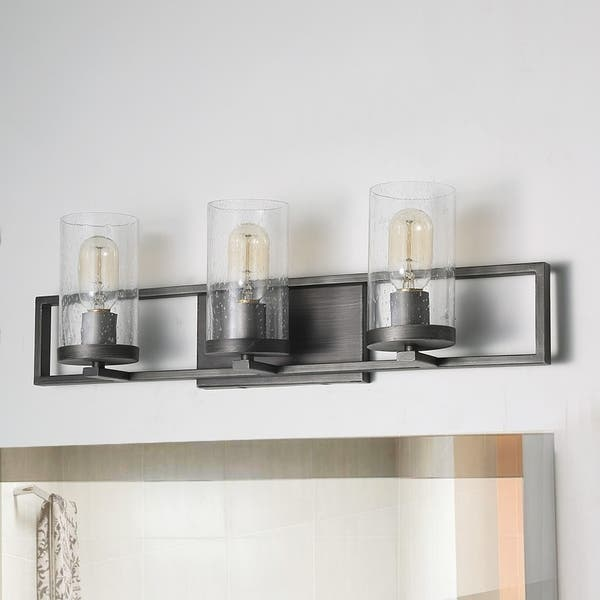 Farmhouse 3 Light Transitional Bathroom Wall Vanity Lighting W24 2 X H7 5 X E5 5 On Sale Overstock 27744471
