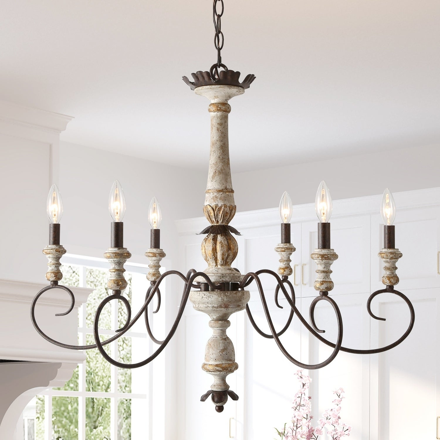 Uban 6 Light Rustic French Country Chandeliers Ceiling Lights On Sale Overstock 27744472