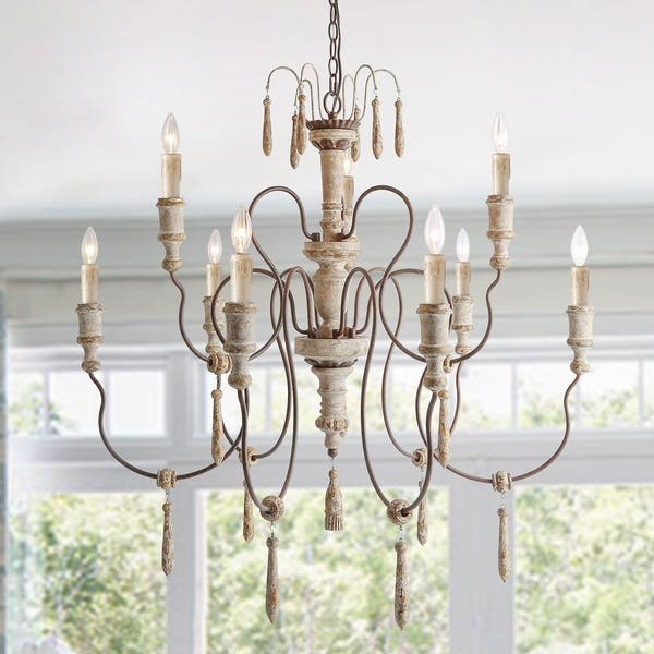 8 Lights French Country Chandeliers Shabby Chic Ceiling