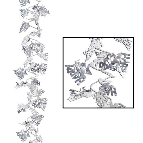 Beistle 25' Gleam 'N Flex Happy 25th Decorative Party Wire Garland - 12 Pack (1/Pkg)