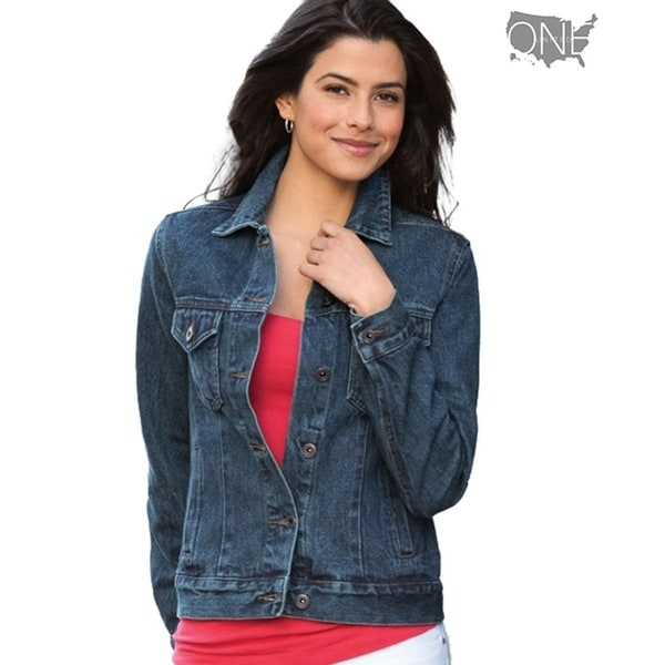 One Country United Women's Denim Fashion Jacket. Opens flyout.