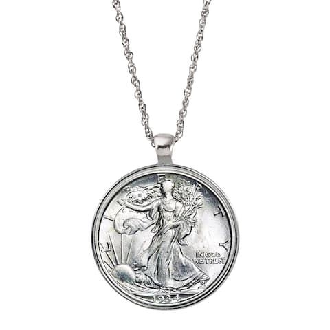 American Coin Treasures Silver Walking Liberty Half Dollar Pendant