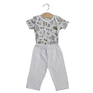 Boy's Everyday Bodysuit and Matching Pants, Woodland Creatures (3-6 mo)