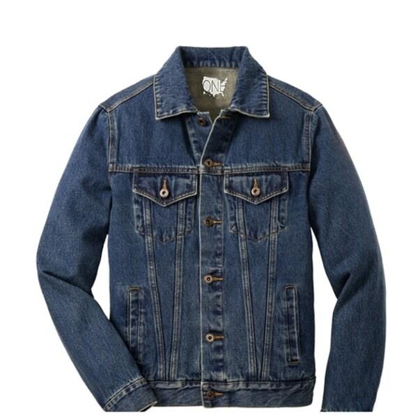 One Country United Men's Denim Fashion Jacket