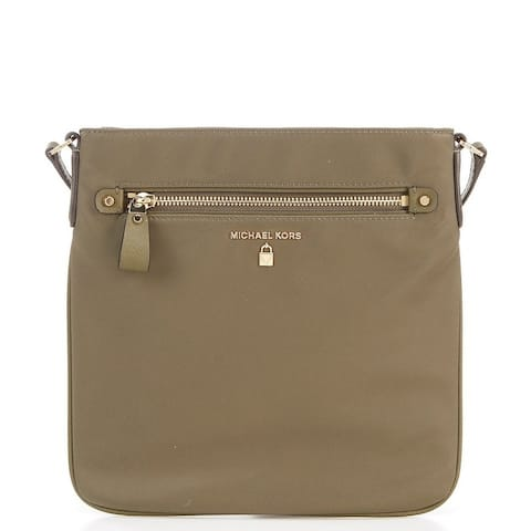 MICHAEL Michael Kors Kelsey Nylon Large Cross-Body Bag Olive