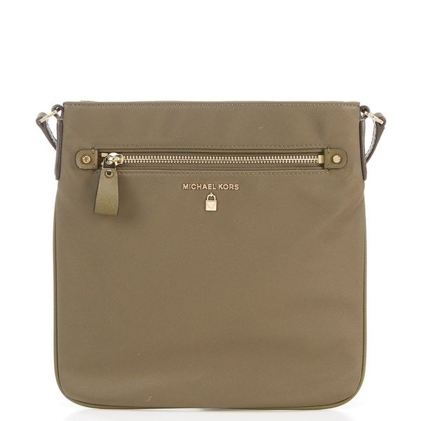 MICHAEL Michael Kors Kelsey Nylon Large Cross-Body Bag Olive