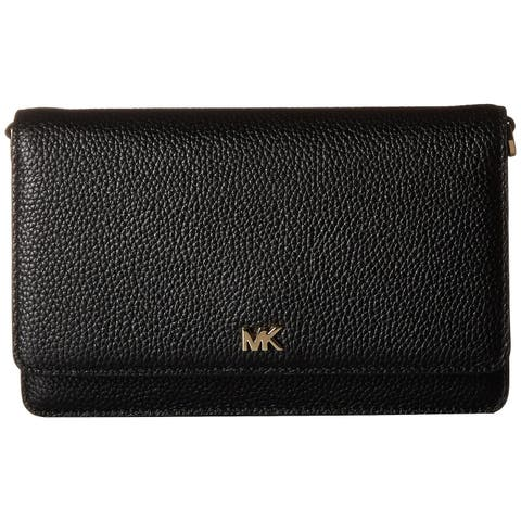 MICHAEL Michael Kors Pebbled Leather Phone Crossbody Bag Black