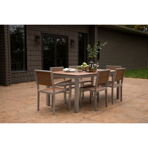 Wyndtree Aluminum Outdoor Dining Set, Made in USA