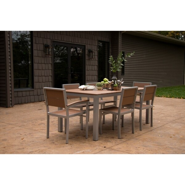 Astonishing Shop Wyndtree Aluminum Outdoor Dining Set Made In Usa Download Free Architecture Designs Scobabritishbridgeorg