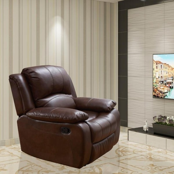 Shop Vanity Art Bonded Leather Rocker Reclining Chair Glider