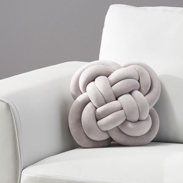 Barneveld Modern Soft Velvet Double Carrick Knot Pillow by Christopher Knight Home