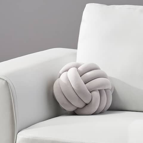 Banbury Modern Soft Velvet Triple Halyard Knot Pillow by Christopher Knight Home