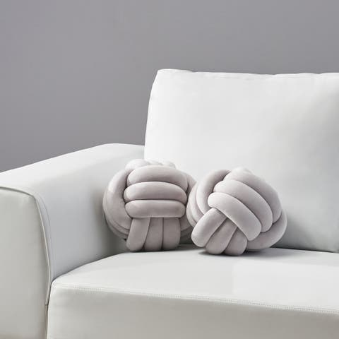 Banbury Modern Soft Velvet Triple Halyard Knot Pillows (Set of 2) by Christopher Knight Home